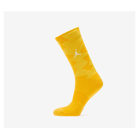 Jordan Legacy Poolside Crew Socks 1-Pair Amarillo/ Opti Yellow/ White
