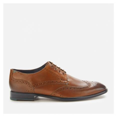 Ted Baker Men's Trvss Leather Wing Tip Oxford Shoes - Tan - UK