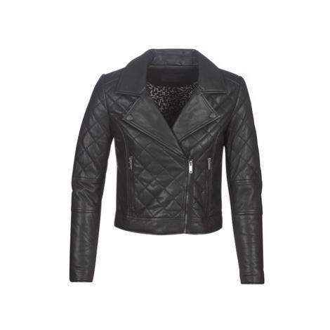 Ikks BP48105-02 women's Leather jacket in Black
