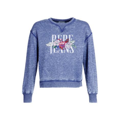 Pepe jeans ANAS women's Sweatshirt in Blue