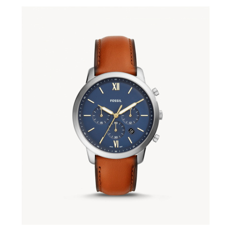Fossil Men's Neutra Chronograph Brown Leather Watch