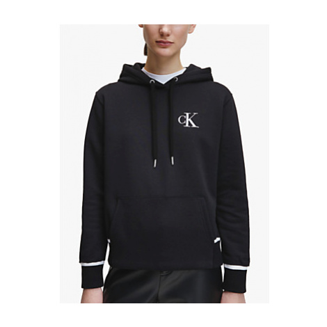 Calvin Klein Performance Embroidery Tipping Hoodie, Black