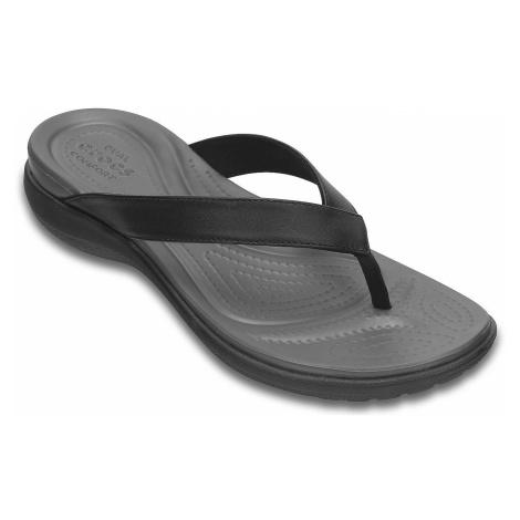 flip flops Crocs Capri V Flip - Black/Graphite - women´s