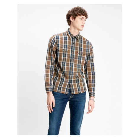 Levi's® Jackson Worker Shirt Blue Brown Levi´s