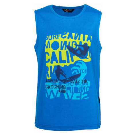 Lewro QUENTIN blue - Boys' tank top