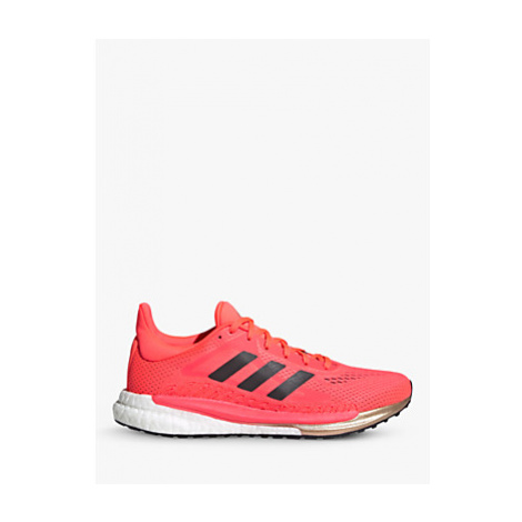 Adidas SolarGlide 3 Women's Running Shoes, Signal Pink/Core Black/Copper Met.