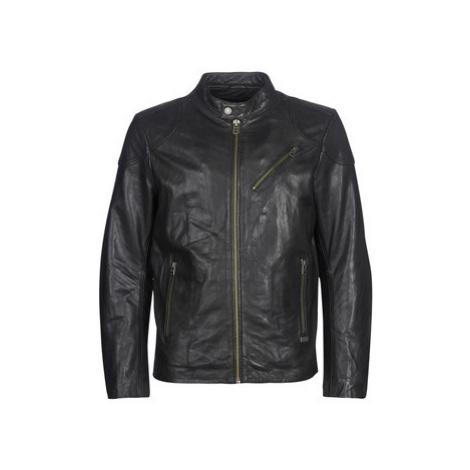 Chevignon STEEL men's Leather jacket in Black