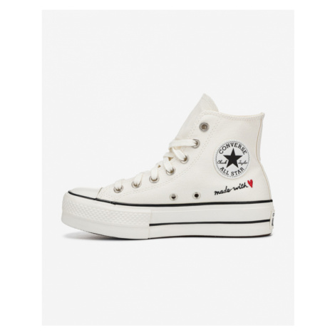 Converse Valentine's Day Platform Chuck Taylor Sneakers White