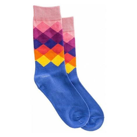 socks Meatfly Pixel - C/Blue/Pink