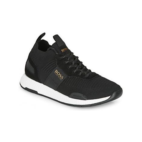BOSS TITANIUM RUNN KNST men's Shoes (Trainers) in Black Hugo Boss