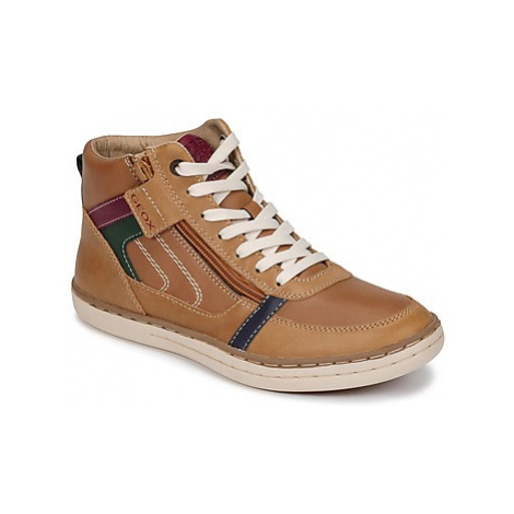 Geox JR GARCIA BOY boys's Children's Shoes (High-top Trainers) in Brown