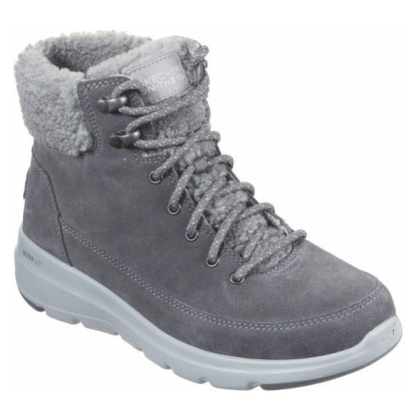 Skechers GLACIAL ULTRA dark gray - Women's winter shoes