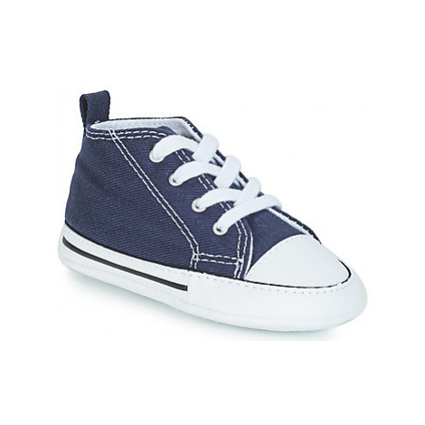 Converse CHUCK TAYLOR FIRST STAR CANVAS HI girls's Children's Shoes (High-top Trainers) in Blue