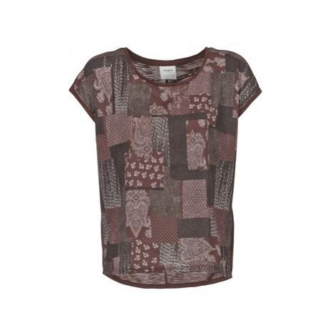 Vero Moda OLIVIA women's T shirt in Bordeaux