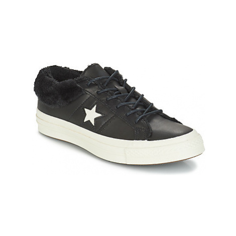 Converse ONE STAR LEATHER OX women's Shoes (Trainers) in Black