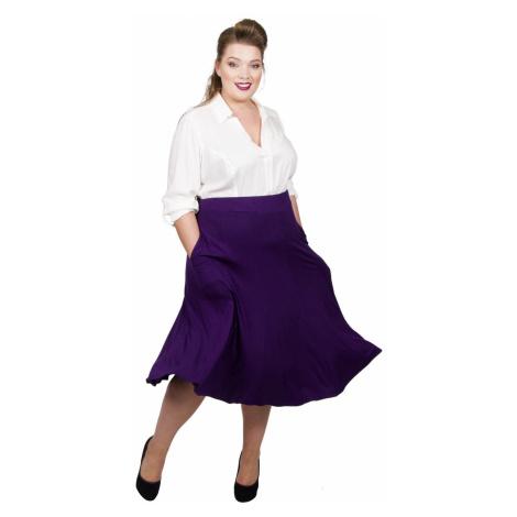 Panelled Jersey Skirt - Damson Scarlett & Jo