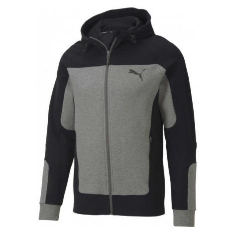Puma EVOSTRIPE HOODED JACKET gray - Men's sweatshirt