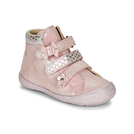 Citrouille et Compagnie HODIL girls's Children's Mid Boots in Pink