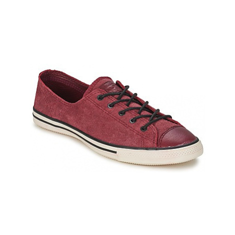 Converse ALL STAR FANCY LEATHER OX women's Shoes (Trainers) in Red