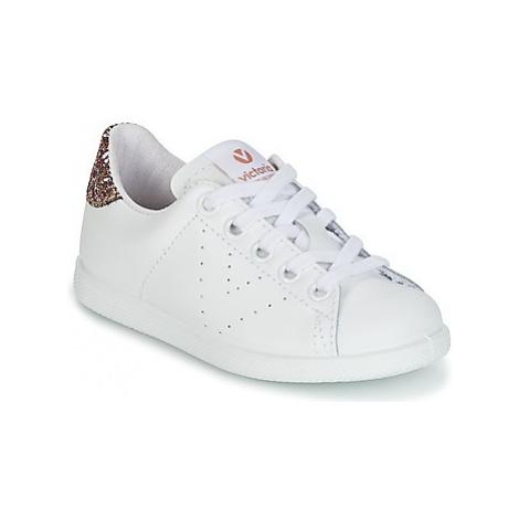 Victoria DEPORTIVO BASKET PIEL KID girls's Children's Shoes (Trainers) in White