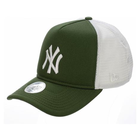 cap New Era 9FO League Essential Trucker MLB New York Yankees - River Green/White