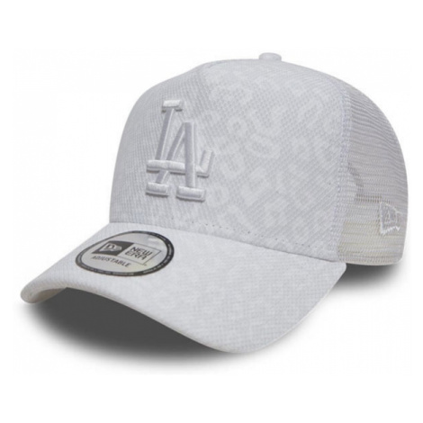 New Era 9Forty Womens A Frame Trucker Leopard LA Dodgers White