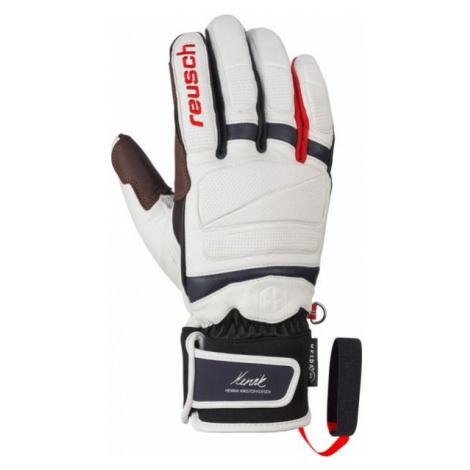 Reusch HENRIK KRISTOFFERSEN white - Leather ski gloves