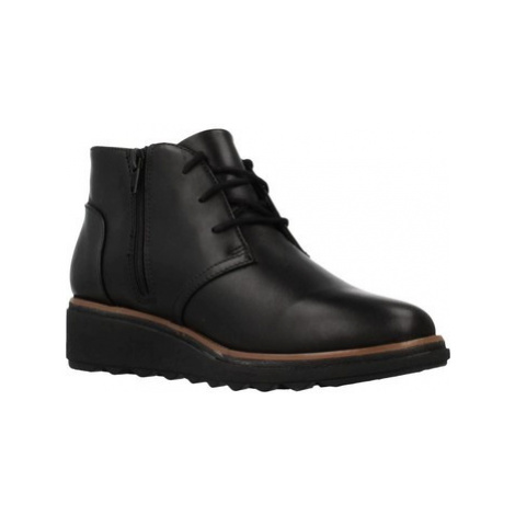 Clarks SHARON HOP women's Low Ankle Boots in Black