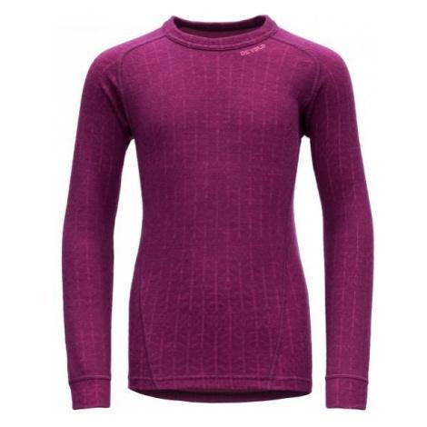 Devold DUO ACTIVE JUNIOR SHIRT pink - Children's functional T-shirt