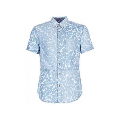 Desigual COTEDE men's Short sleeved Shirt in Blue