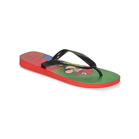Havaianas MARIO BROS women's Flip flops / Sandals (Shoes) in Red