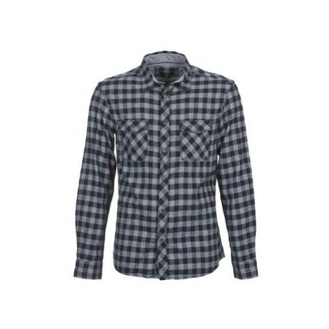 Celio CARRIE men's Long sleeved Shirt in Grey