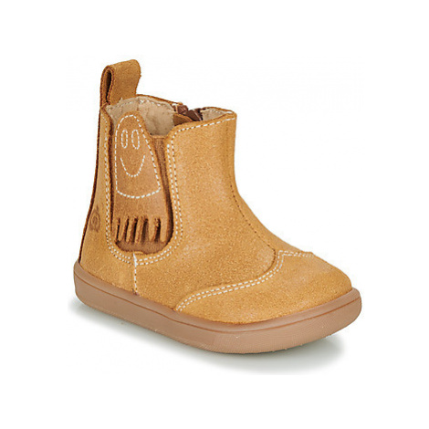 Citrouille et Compagnie LOKO boys's Children's Mid Boots in Brown