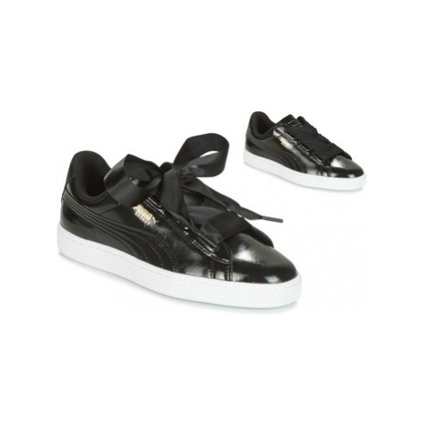 Puma Basket Heart Glam Jr girls's Children's Shoes (Trainers) in Black