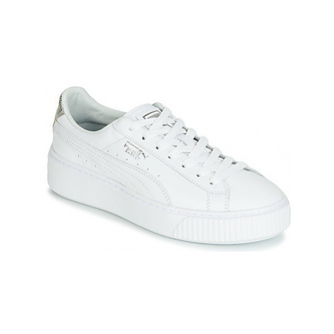 Puma WN SUEDE PLATFM OPULENT.WH women's Shoes (Trainers) in White