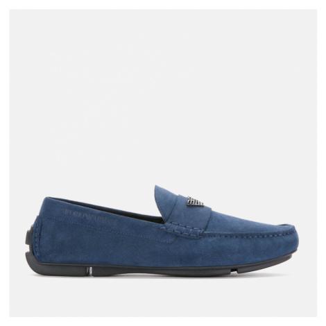 Emporio Armani Men's Suede Driving Shoes - Midnight - EU 41/UK - Blue