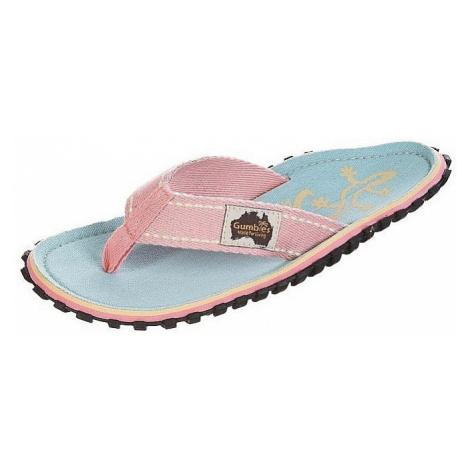 flip flops Gumbies Islander - Pastel Blue/Ghecko