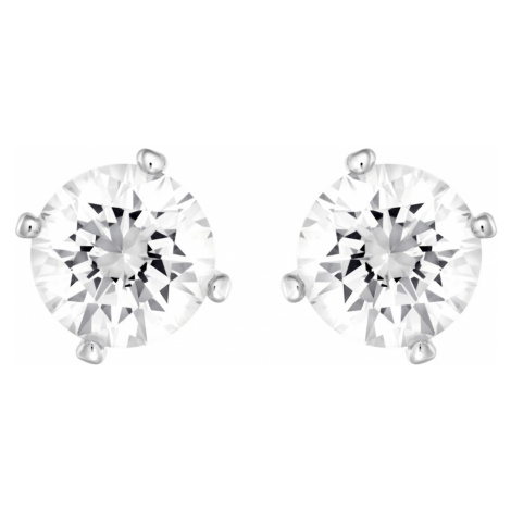 Angelic Pierced Earrings, White, Rhodium plated Swarovski