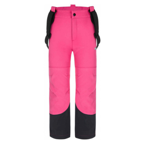 Loap LOCON pink - Children's softshell trousers
