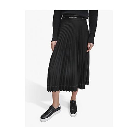 Calvin Klein Sunray Pleat Skirt, Black