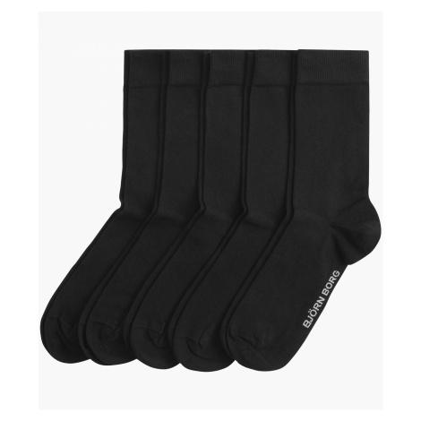 ESSENTIAL SOCKS 5-PACK Black