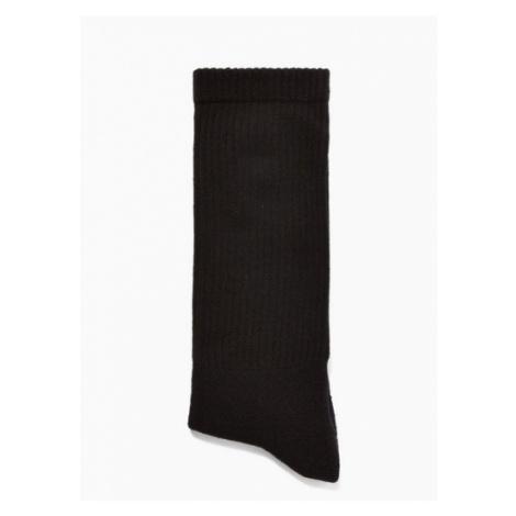 Mens Black Tube Socks, Black Topman