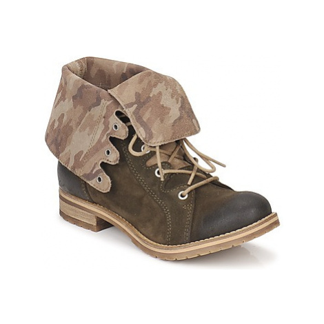 Casual Attitude LEVATE women's Mid Boots in Green