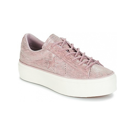 Converse ONE STAR PLATFORM OX women's Shoes (Trainers) in Pink