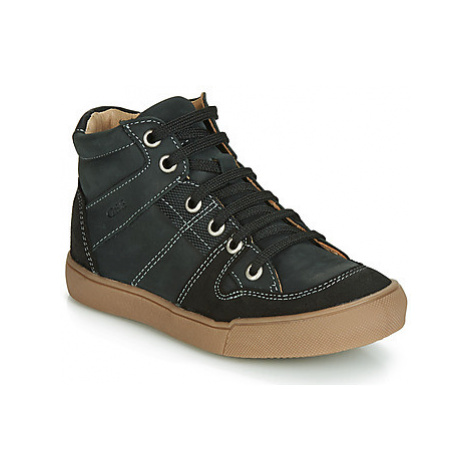 GBB NEMOON boys's Children's Shoes (High-top Trainers) in Black