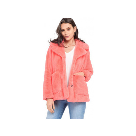 Oakwood Faux fur jacket pockets on the front long sleeves women's in Orange