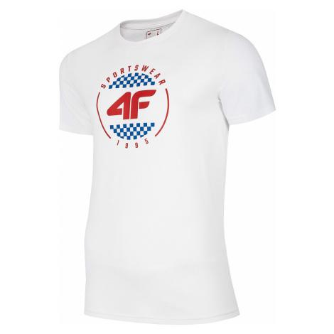 T-Shirt 4F H4L20-TSM022 - 10S/White - men´s