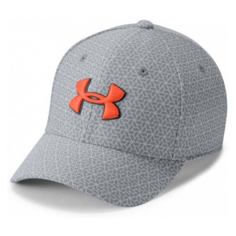 Under Armour BOY'S PRINTED BLITZING 3.0 grey - Kids' baseball cap