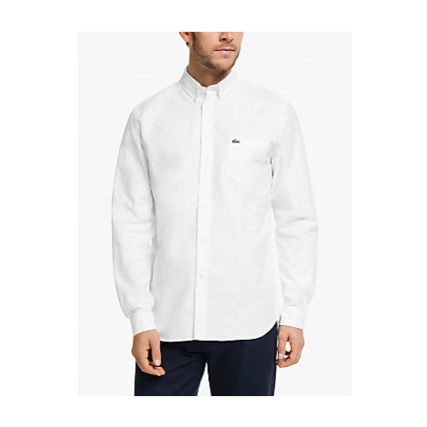 Lacoste Long Sleeve Oxford Shirt, White