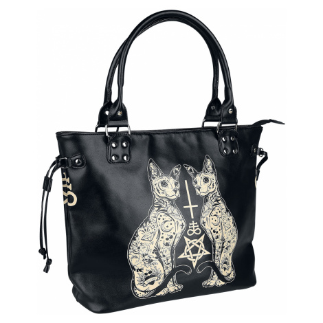 Banned - Esoteric Cat Bag - Handbag - black-white